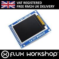"1.8"" 128x160 Colour TFT LCD Module SD SPI 5V 3.3 Arduino Pi Flux Workshop"