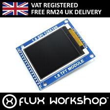 "1.8"" 128x160 Colour TFT LCD Module SD SPI 5V 3.3 Arduino Pi Flux Workshop"