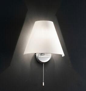 Lampada Applique Cromo Lucido o Ottone Lucido Con Paralume in PVC Perenz 5108