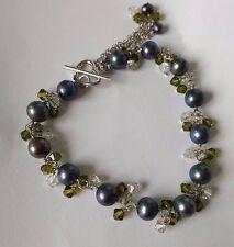 Freshwater pearl bracelets 925 sterling silver