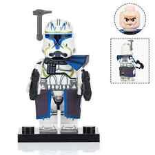 Star Wars Clone Trooper Captain Rex Mini Figure with Pauldron Lego Compatible