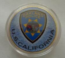Oakland  California   POLICE     24K GOLD  PLATED 40 mm  Challenge  COIN  #1