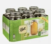 Ball Glass Mason Jars with Lids & Bands, Wide Mouth, 64 oz, 6 Count NEW 🔥