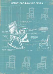 Plakat - Garten Schaukelstuhl - Design / Garden Rocking Chair Design / Nr. 47