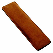 Bar Magnifier Case Pouch, Brown Velour Leather Case - Size Large