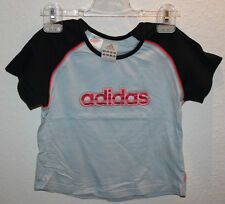 hellblaues ADIDAS T-Shirt Shirt Gr 128 mit großem Schriftzug