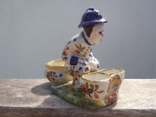 Jeune poilu casque Adrian céramique Rouen d'époque début 20ème