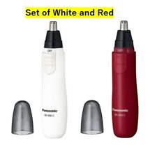 Panasonic SET OF TWO nose hair trimmer etiquette cutter ER-GN11 White & Red