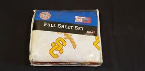 NEW USC Trojans FULL SHEET SET w/ Pillowcases Included