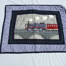 """Thomas & Friends Standard  Pillow Sham Pottery Barn Kids 26"""" x 26"""" Quilted"""