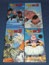 Lot (4) DRAGON BALL Z Factory Sealed VHS Video Tapes Cell Games, Majin Buu Uncut