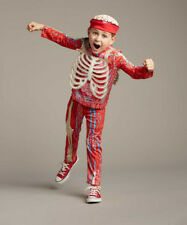 Boys Youth Size 6 7 8 Body Parts Halloween Costume Outfit Brain Cap Creepy Scary