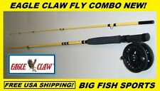 EAGLE CLAW Fly Fishing Combo 2-piece 8-feet 6-inch #MS6025 FREE USA SHIPPING!