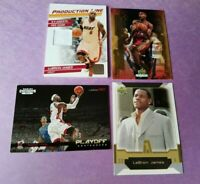 LEBRON JAMES '10-1 GAME USED JERSEY CARD + NAXCOM & UPPER DECK ROOKIE CARD LAKER