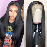 Lace Front Human Hair Wigs Brazilian Straight Pre plucked With Baby Hair Wigs