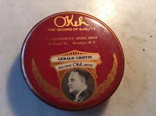 Okeh Phonograph Record Duster Round Celluloid Gerald Griffin Artist