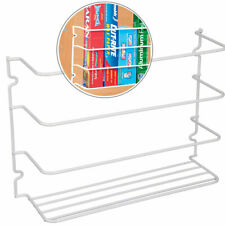 Cabinet Door Wrap Pantry Organizer Rack Kitchen Wall Mount Steel Holder Shelf