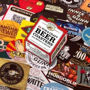 Pub and Craft Beer Coasters/ Beer Mats Set of 25 (pwm)