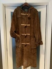 Exquisite Rare Vintage Polo Country Ralph Lauren Hooded Suede Trench Coat