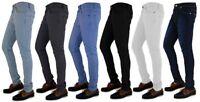 Mens Skinny Jeans Slim Fit Super Stretch Denim Trouser Chinos Regular Short Long