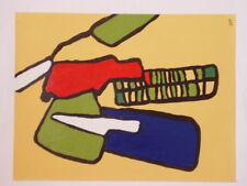 Tableau Abstrait acrylique sur papier 24 cm x 32cm