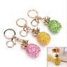 Pineapple Crystal Rhinestone Keyring Charm Pendant Bag Key Ring Keychain AU~