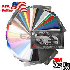 Newest 3M 1080 Sample Swatch Deck Book Wrap Vinyl Film Carbon Fiber Matte Gloss