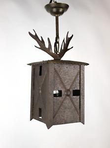 Jugendstil Außenlampe - Flurlampe - Eingangsbereich - Eisen - online-antikwerk