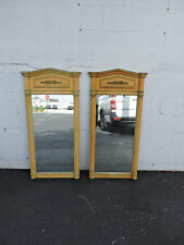 French Painted Pair of Wall Bathroom Vanity Dresser Mirrors 7348