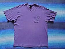 New listing Vtg 80s Polo Ralph Lauren Purple Crew Neck Cotton Pocket T-shirt, Men's Large