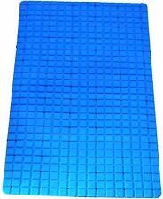 New Non slip pvc bath shower mat Bright Colours Large Rectangle Shape Blue