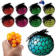 New Anti-Stress Squishy TPR Mesh Ball Grape Squeeze Sensory Fruity Toys Novelty
