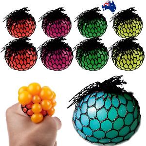 New Anti-Stress Squishy TPR Mesh Ball Grape Squeeze Sensory Fruity Toys Novelty