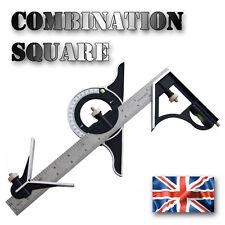 Combination Square Set  Angle Finder & Protractor Spirit Level Steel Ruler Mitre
