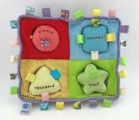 Taggies My First Puzzle Shapes Activity Center 2007 Earlyears Plush Baby Toy EUC