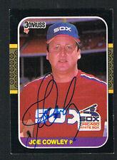 Joe Cowley #552 signed autograph auto 1987 Donruss Baseball Trading Card