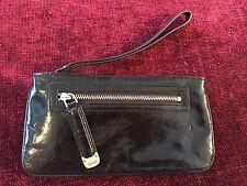 DKNY Donna Karan Black Zip Pouch Wristlet Wallet Clutch Inside & Outside Zip