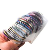 30Pcs Striping Tape Line Rolls Nail Art Decoration Stickers Manicure Decals Tips