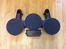 Kit de tambor Wii Guitar Hero Banda de piezas de repuesto Verde Azul Rojo Probado Funcionando