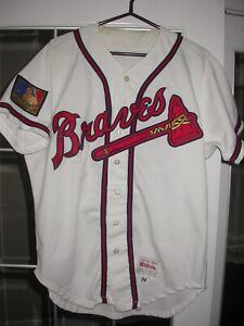 Atlanta Braves Kent Mercker 1994 Game Used Home Baseball MLB Jersey - Autograph