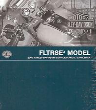 2009 HARLEY-DAVIDSON CVO FLTRSE3 ROAD GLIDE SERVICE MANUAL SUPPLEMENT-NEW SEALED