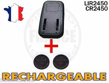 CHARGEUR + 2 PILES BOUTON CR2450 RECHARGEABLE 3.6V LIR2450 CR2450 BATTERY ACCU