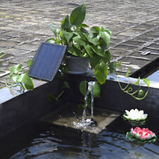 Solar Panel Power Water Pump For Fountain Pool Pond Garden Plants 9V 2.5W S2L3