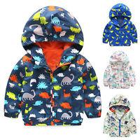 NEUF bébé à capuche chaud manteau hiver automne pull garçon tout-petit veste