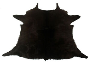"Cowhide Rugs Calf Hide Cow Skin Rug (29""x24"") Blackish Brown CH8167"