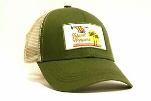 New Island Hoppers Truckers Hat Cap Magnum PI Inspired T-Shirt Style Logo Hawaii