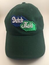 Dutch Maid Embroidered Green Baseball Hat Cap Adjustable 100% Cotton