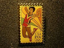 "USPS STAMP DESIGN PIN TRACK EVENT 1984 OLYMPICS NICE PIN ""COMBINED SHIPPING"""
