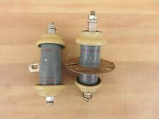 2 Plessey High Voltage Capacitors 10 KVDC 1000 PF