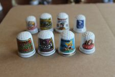 Porcelain Novelty Thimbles (Set of 8) - Coca Cola, Campbells Soup, etc.